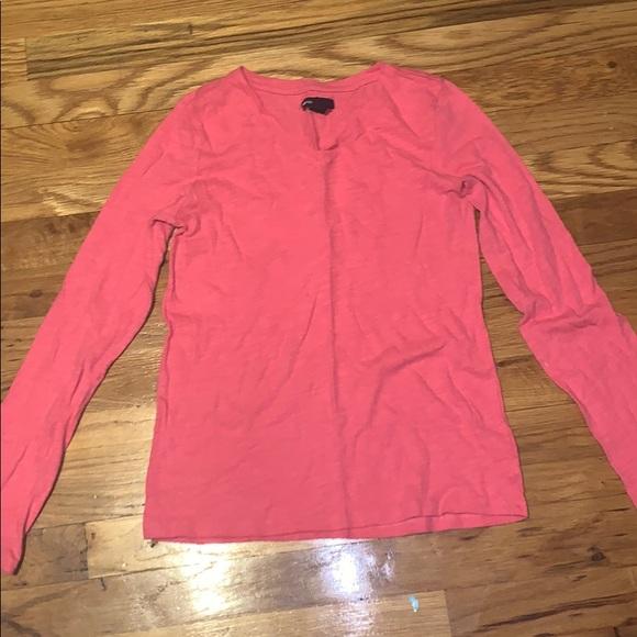 GAP Other - Hot Pink GapKids V Neck Long Sleeve Shirt